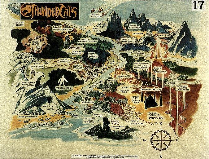 COSMOCATS / Thundercats (Ljn) 1985-1987 - Page 2 Tcatsmap