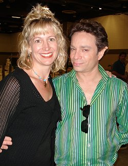 Choreographer DJ Grey and Chris Kattan as Sparky the Elf