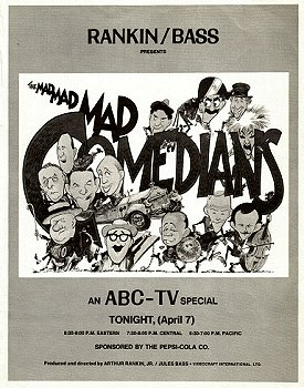 Vintage Ad for Mad, Mad, Mad Comedians